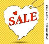 sale. sale label in form of...   Shutterstock .eps vector #495957955