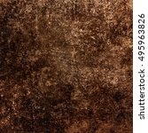 brown abstract grunge... | Shutterstock . vector #495963826