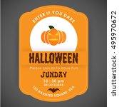 enter if you dare. halloween... | Shutterstock .eps vector #495970672