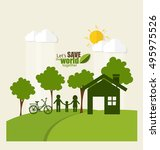 eco friendly. ecology concept... | Shutterstock .eps vector #495975526