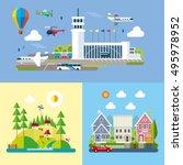 modern flat design conceptual... | Shutterstock .eps vector #495978952