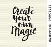 conceptual hand drawn phrase...   Shutterstock .eps vector #495979186