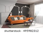 interior with sofa. 3d... | Shutterstock . vector #495982312