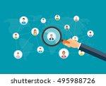 flat business marketing... | Shutterstock .eps vector #495988726