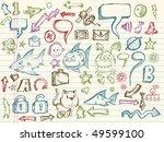 mega doodle sketch vector... | Shutterstock .eps vector #49599100