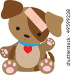 a cute little puppy is with a... | Shutterstock .eps vector #49599238