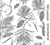 seamless christmas pattern.... | Shutterstock .eps vector #495997186