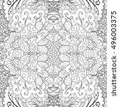 tracery seamless calming...   Shutterstock .eps vector #496003375
