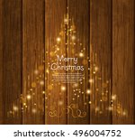 abstract christmas tree made... | Shutterstock .eps vector #496004752