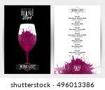design template list  wine... | Shutterstock .eps vector #496013386
