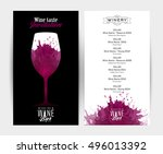 design template list  wine... | Shutterstock .eps vector #496013392