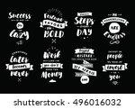 inspirational quotes set.... | Shutterstock .eps vector #496016032