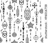 boho seamless pattern  abstract ...   Shutterstock .eps vector #496016758