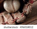 Abstract Old Vintage Baseball...