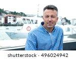 handsome man. outdoor male...   Shutterstock . vector #496024942