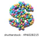 color plastic balls on children'... | Shutterstock . vector #496028215