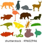 set of animals icons f   ... | Shutterstock .eps vector #49602946