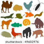 set of animals icons h   ... | Shutterstock .eps vector #49602976