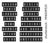 world big cities names in... | Shutterstock .eps vector #496039525