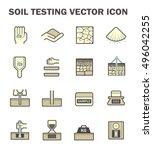 vector icon of soil and soil... | Shutterstock .eps vector #496042255