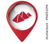 map pin symbol with pyramids... | Shutterstock .eps vector #496051096