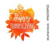 thanksgiving background. autumn ... | Shutterstock .eps vector #496058902