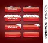 christmas web buttons set.... | Shutterstock .eps vector #496072072