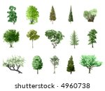 painted color trees collection  ... | Shutterstock . vector #4960738