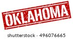 oklahoma. grunge vintage...   Shutterstock .eps vector #496076665