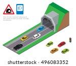 interior of an urban walkway... | Shutterstock .eps vector #496083352