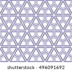 beautiful geometric pattern of... | Shutterstock .eps vector #496091692