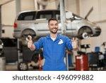 car service  repair ... | Shutterstock . vector #496099882