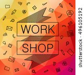 banner for hackathon  workshop. ... | Shutterstock .eps vector #496105192