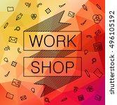 banner for hackathon  workshop. ...   Shutterstock .eps vector #496105192
