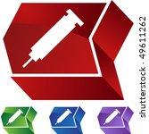 syringe | Shutterstock .eps vector #49611262