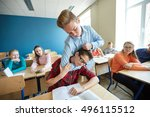 education  bullying  violence ... | Shutterstock . vector #496115512