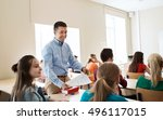 education  school  learning and ... | Shutterstock . vector #496117015