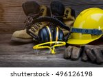 standard construction safety | Shutterstock . vector #496126198