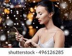 technology  christmas  winter... | Shutterstock . vector #496126285