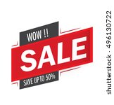 wow sale and special offer. 50 ... | Shutterstock .eps vector #496130722
