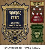vector vintage items  label art ... | Shutterstock .eps vector #496142632
