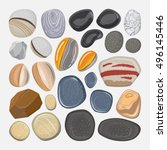 Vector River Stones Isolated O...