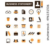 business plan strategy icons | Shutterstock .eps vector #496151536