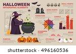 halloween infographic elements | Shutterstock .eps vector #496160536