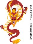 chinese red dragon symbol of...   Shutterstock .eps vector #496161445