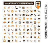 information technology icons | Shutterstock .eps vector #496162342