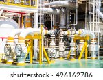 manual operate ball valve at... | Shutterstock . vector #496162786