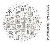 medicine service concept... | Shutterstock .eps vector #496165132