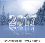 transparent ice date 2017... | Shutterstock .eps vector #496175848
