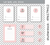 gift cards. note paper  notes ... | Shutterstock .eps vector #496179412